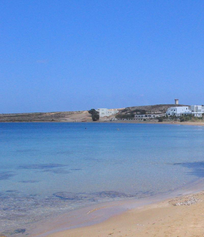 Agioi Anargyroi beach in Naoussa Paros